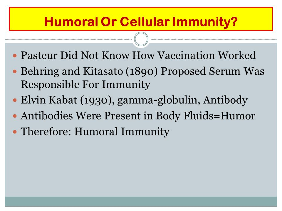 Humoral Or Cellular Immunity