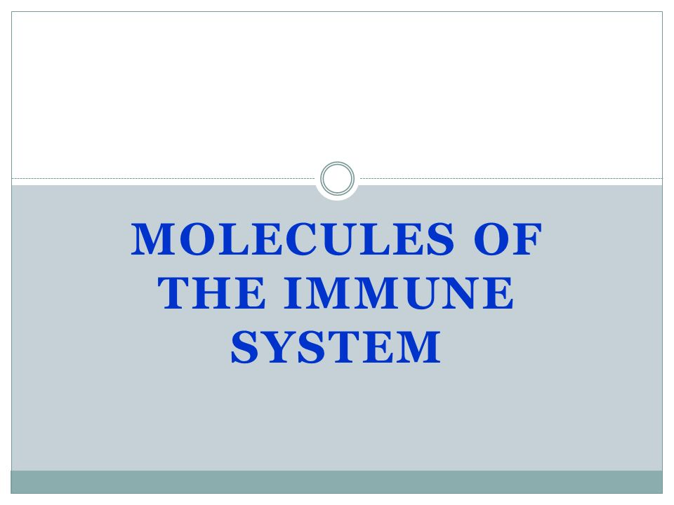 Molecules of The Immune System