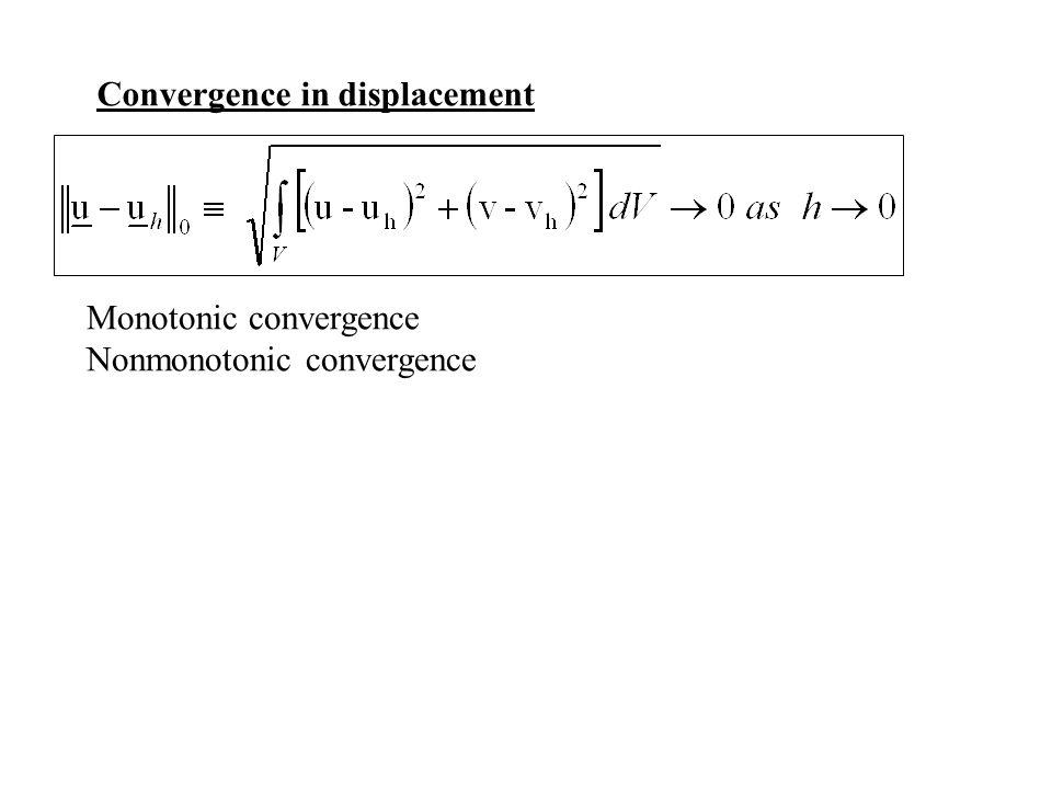 Convergence in displacement