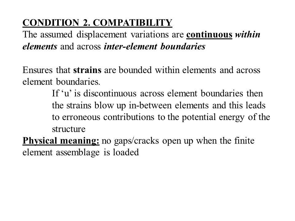 CONDITION 2. COMPATIBILITY