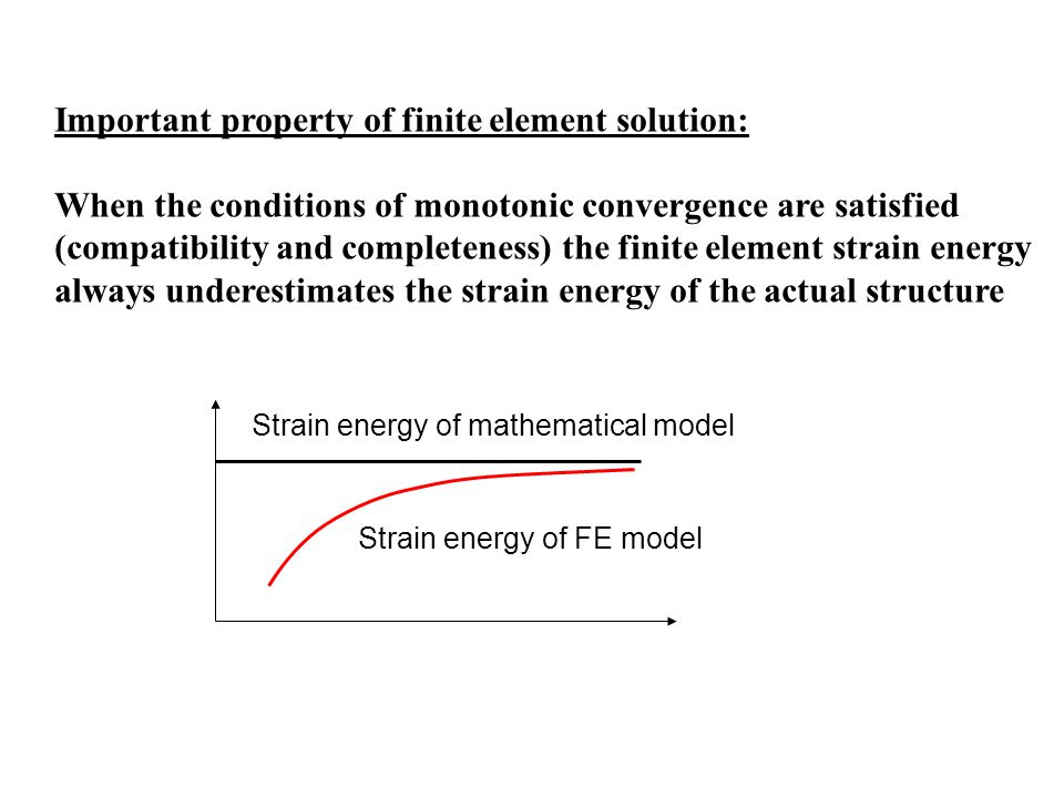 Important property of finite element solution:
