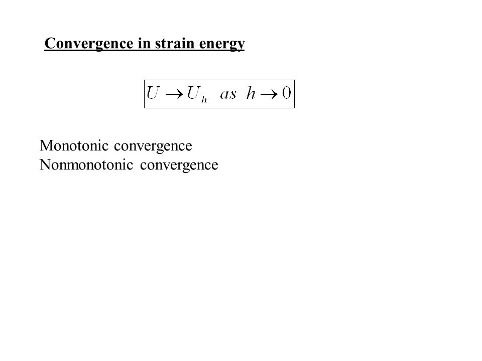 Convergence in strain energy