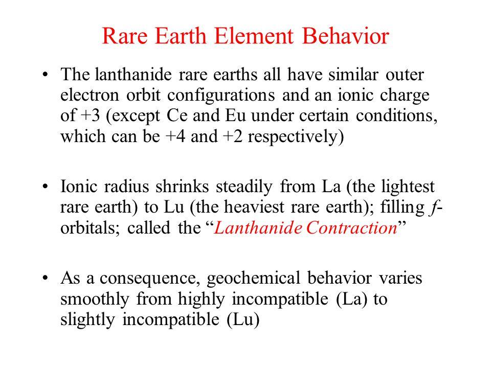 Rare Earth Element Behavior