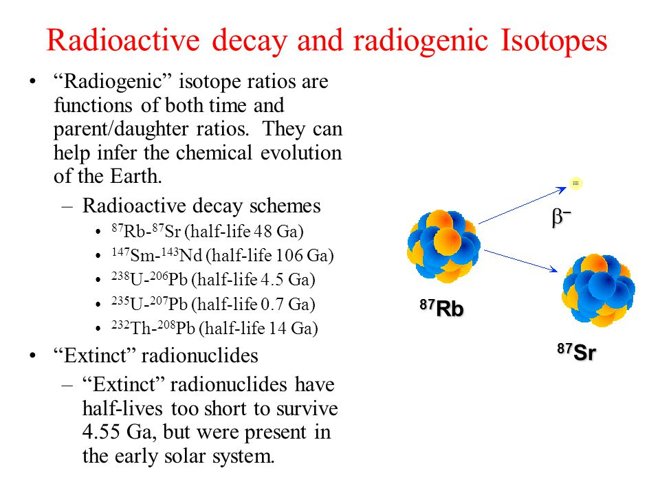 Radioactive decay and radiogenic Isotopes