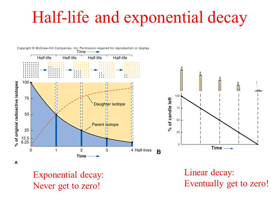 Half-life and exponential decay