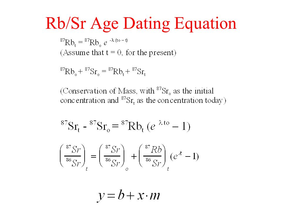 Rb sr dating example of research 2