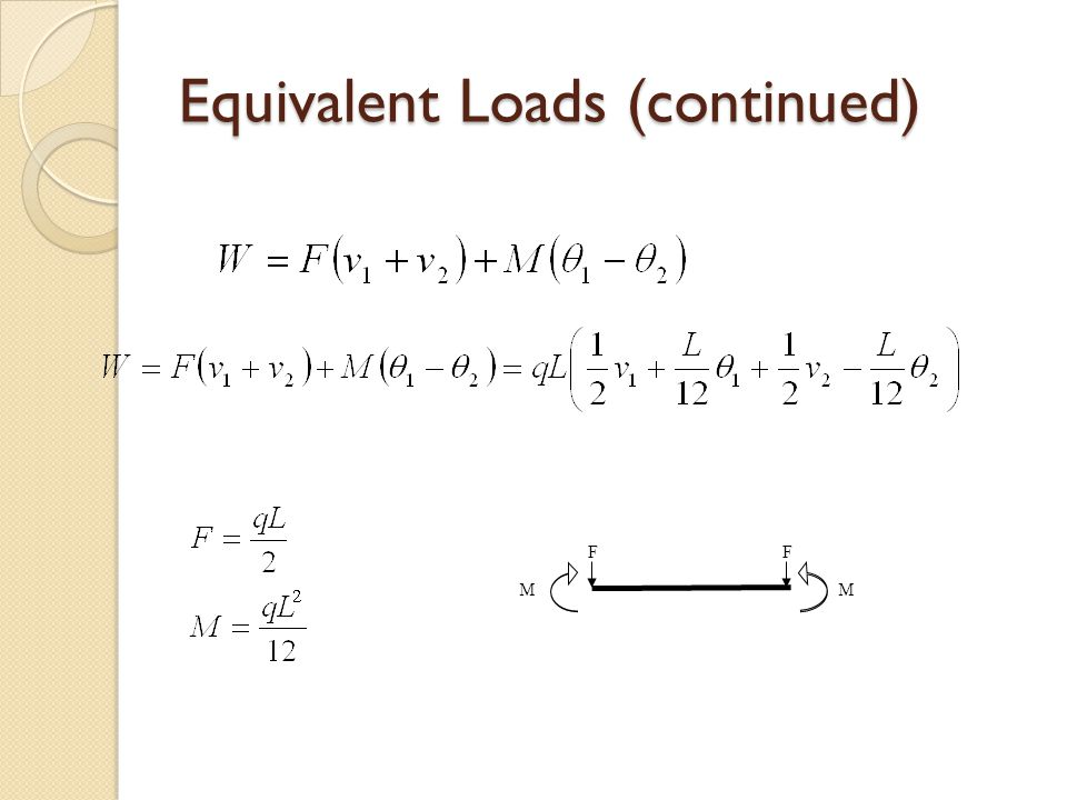 Equivalent Loads (continued)