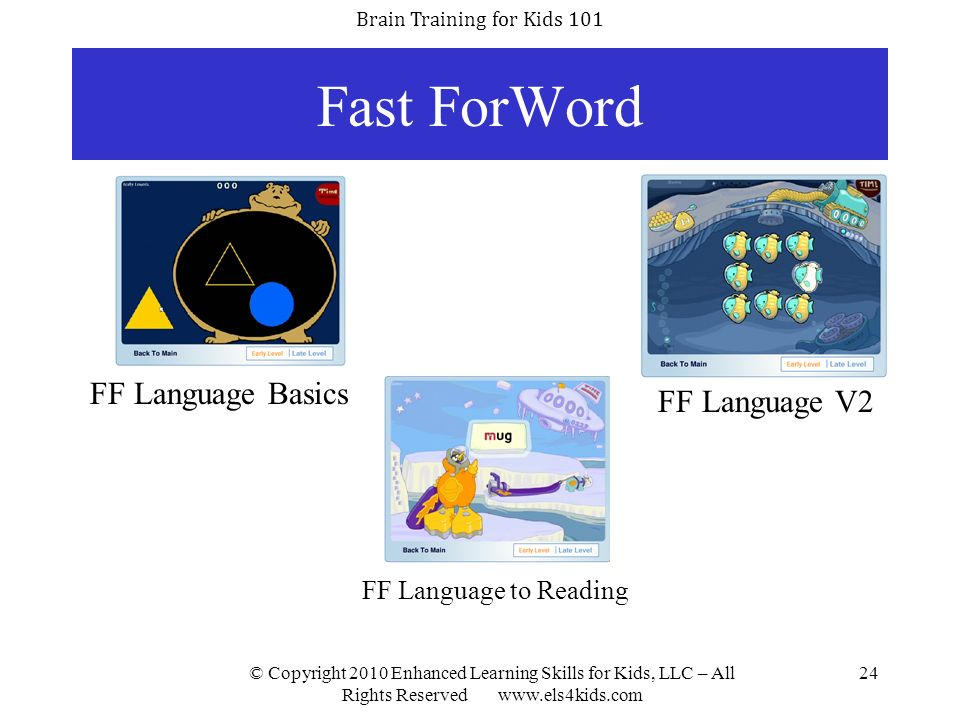 Fast ForWord FF Language Basics FF Language V2 FF Language to Reading