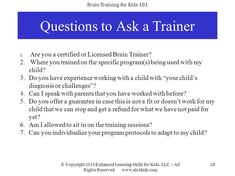 Questions to Ask a Trainer