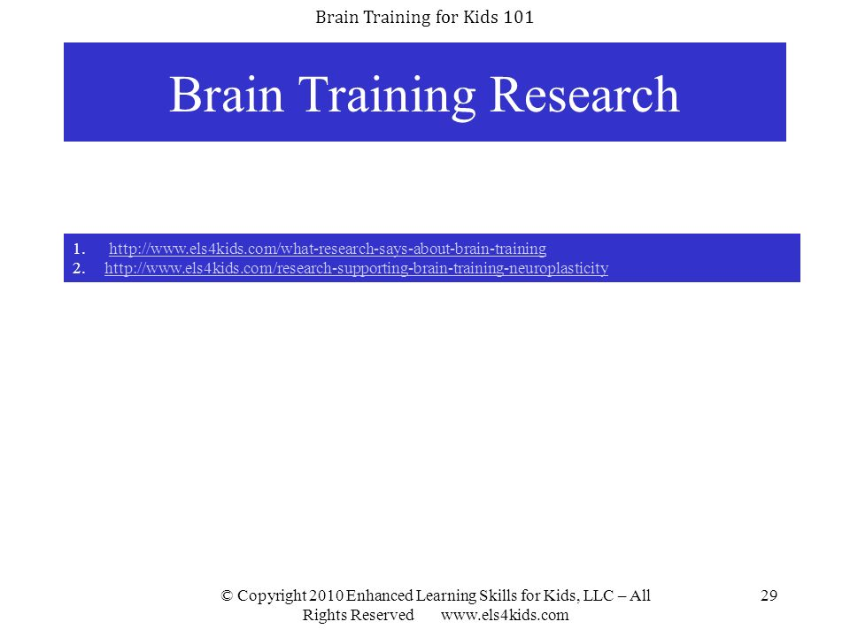 Brain Training Research