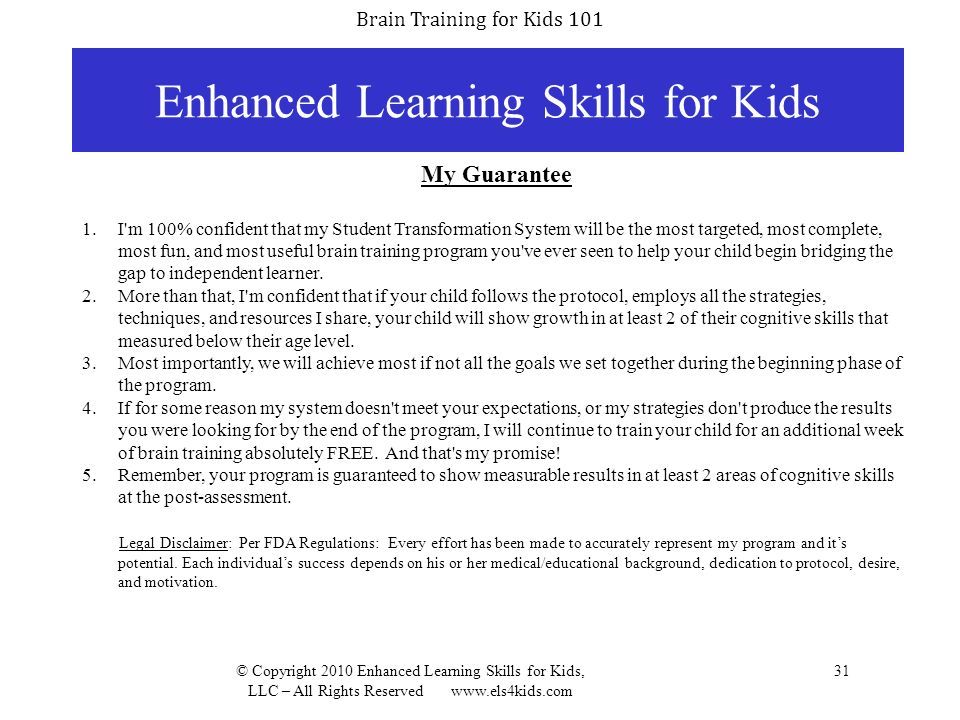 Enhanced Learning Skills for Kids