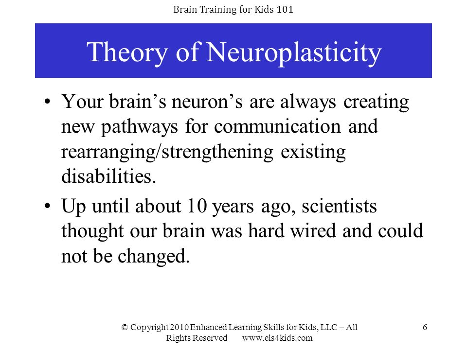 Theory of Neuroplasticity