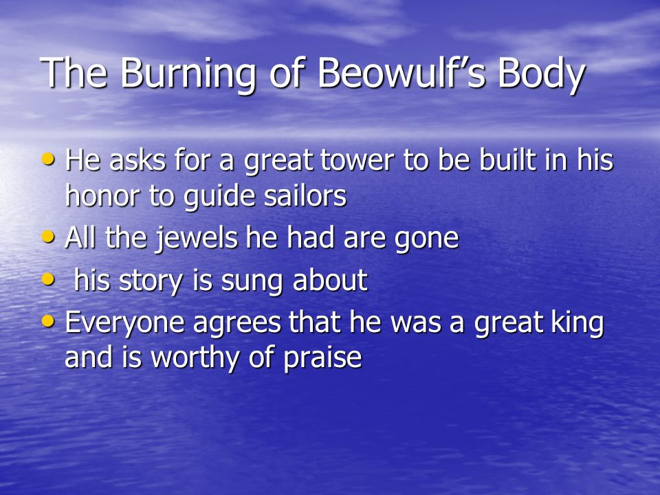 The Burning of Beowulf's Body