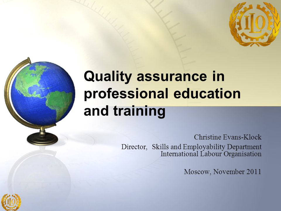 Quality assurance in professional education and training