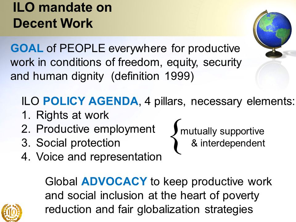 ILO mandate on Decent Work