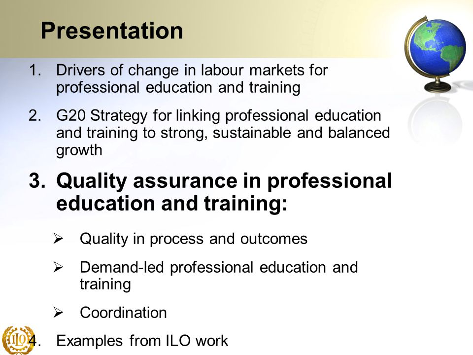 Presentation Quality assurance in professional education and training: