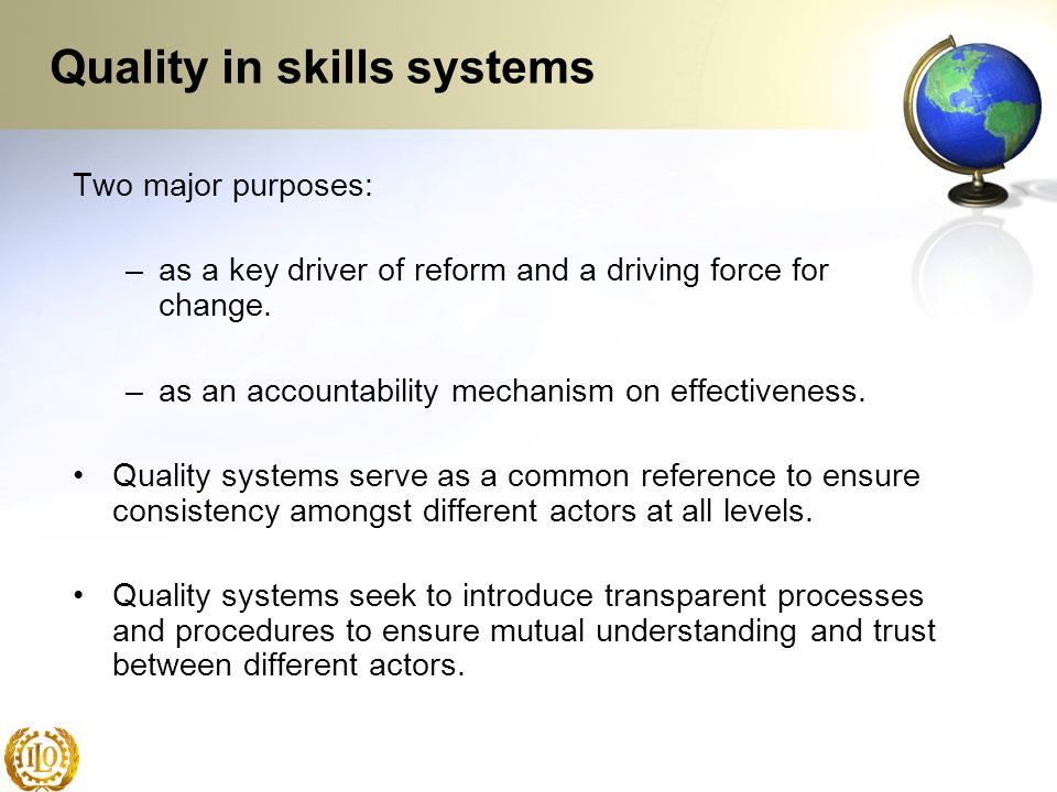 Quality in skills systems