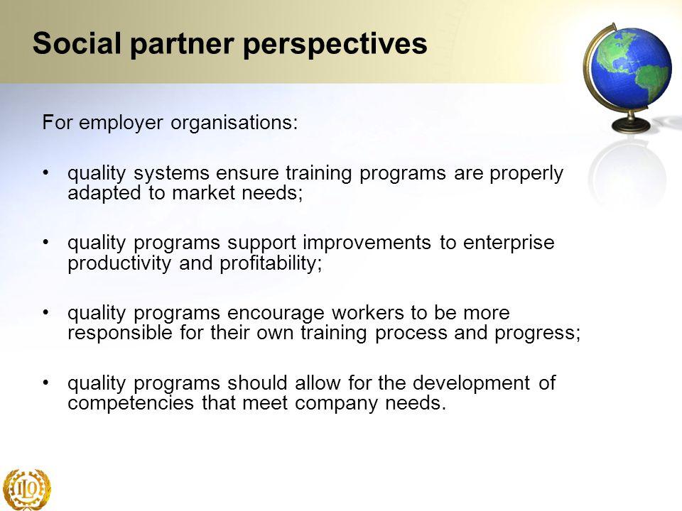 Social partner perspectives
