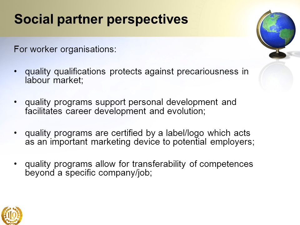 Social partner perspectives
