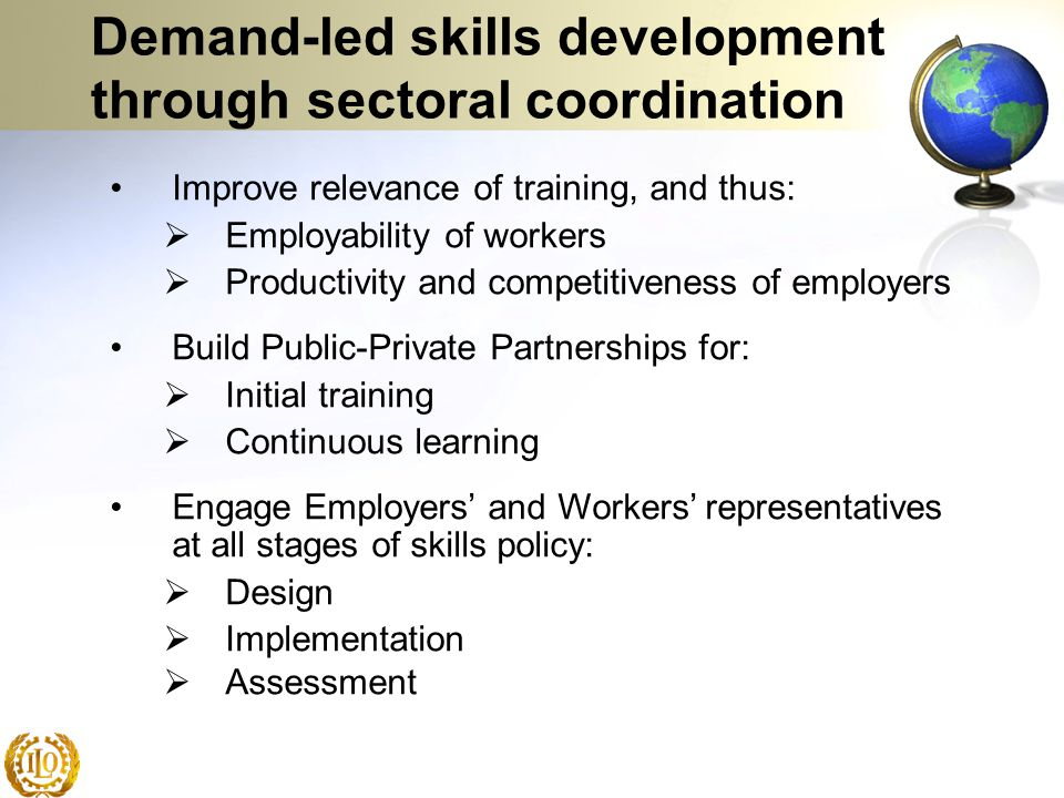 Demand-led skills development through sectoral coordination