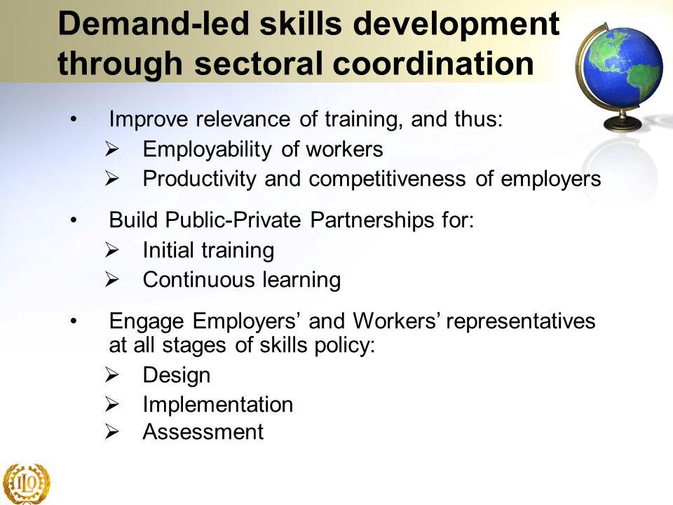 Demand-led skills development through sectoral coordination