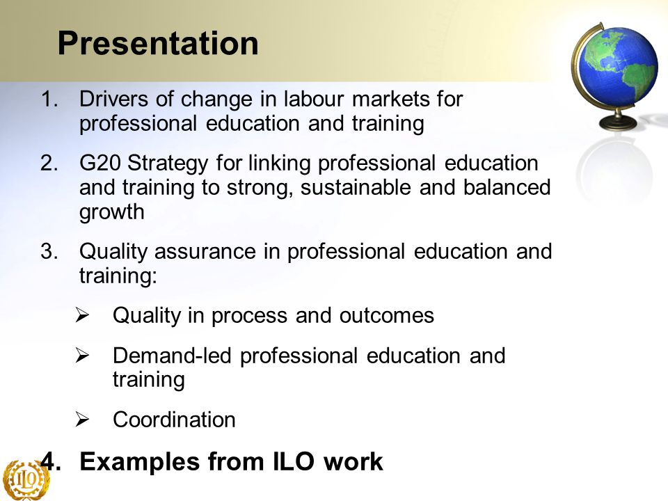 Presentation Examples from ILO work