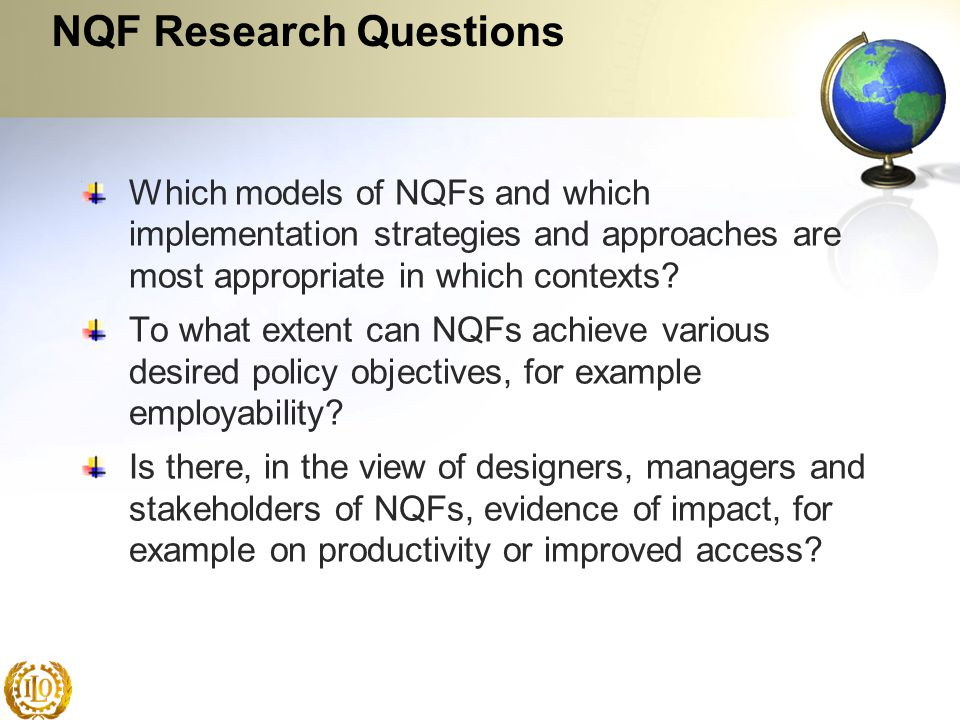 NQF Research Questions