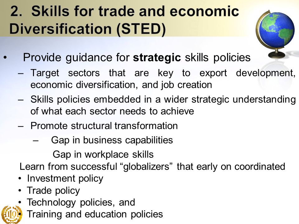 2. Skills for trade and economic