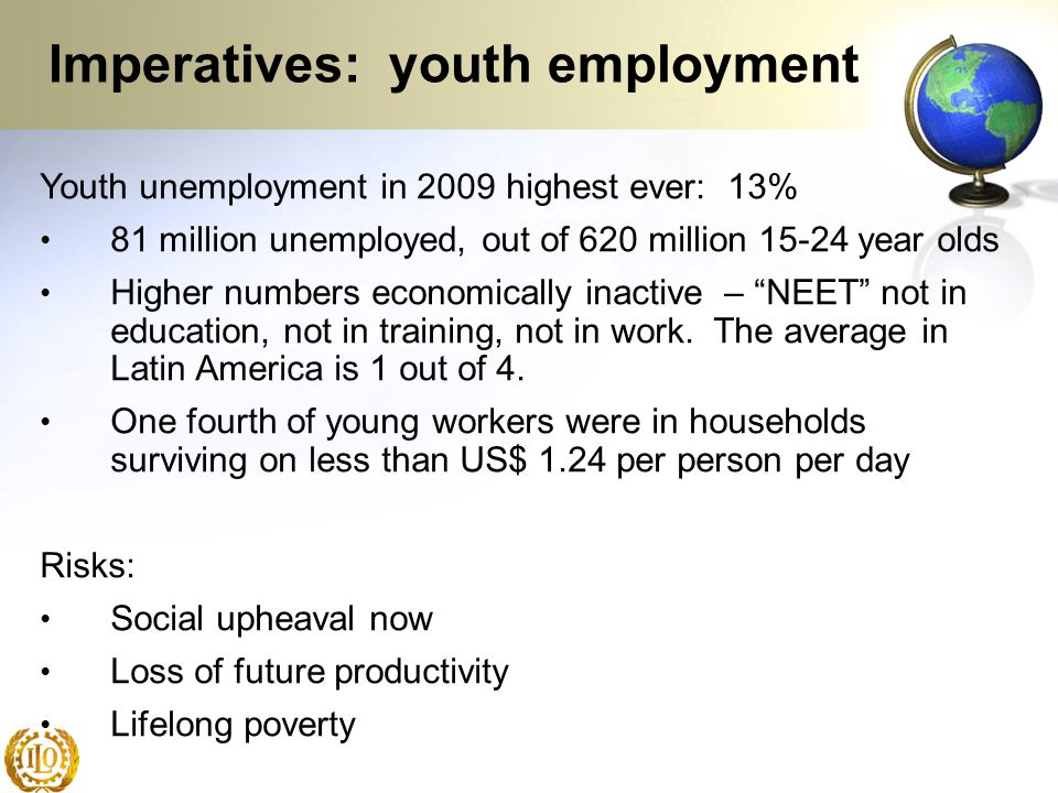 Imperatives: youth employment