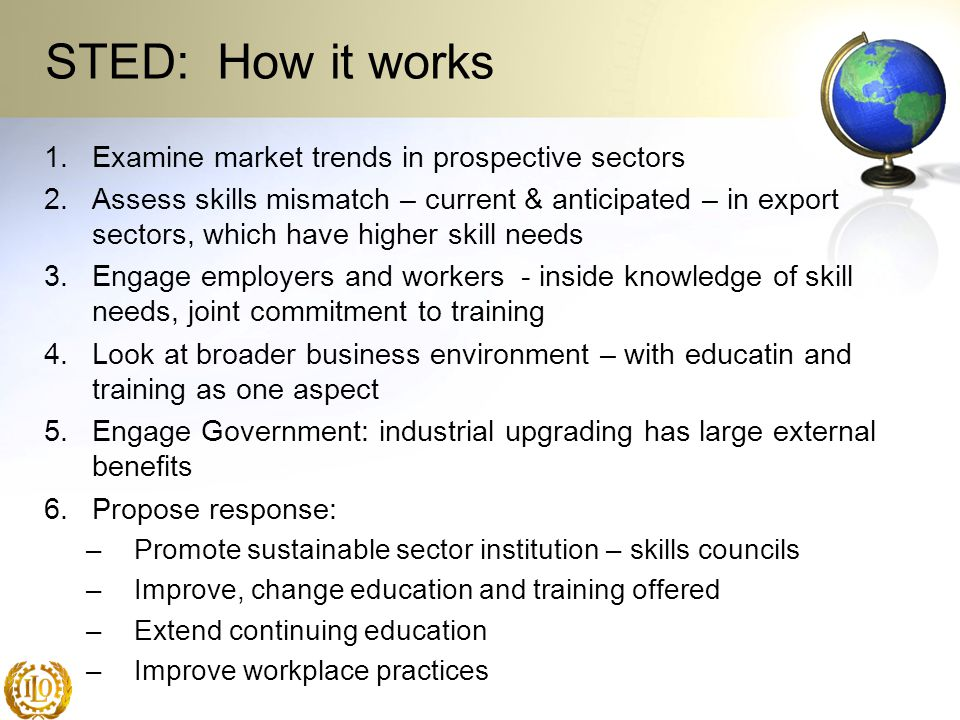 STED: How it works Examine market trends in prospective sectors