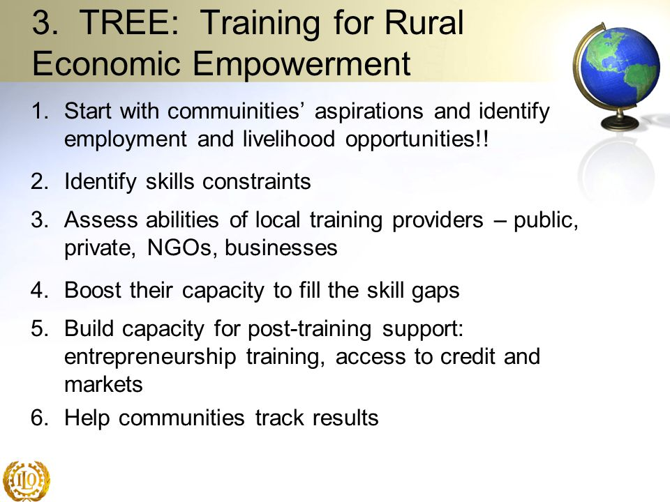 3. TREE: Training for Rural Economic Empowerment