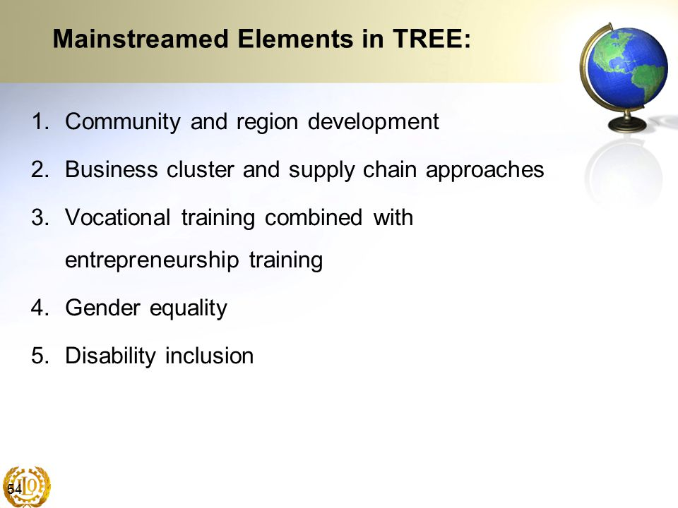 Mainstreamed Elements in TREE: