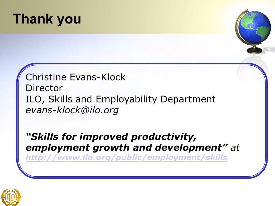 Thank you Christine Evans-Klock Director