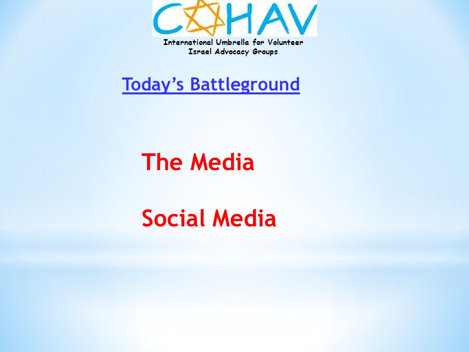 Today's Battleground The Media Social Media