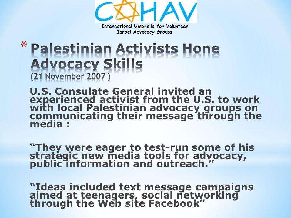 Palestinian Activists Hone Advocacy Skills (21 November 2007 )