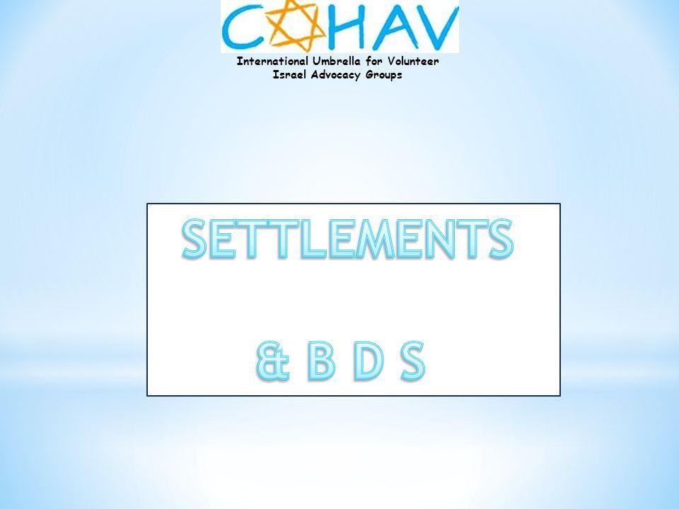 SETTLEMENTS & B D S