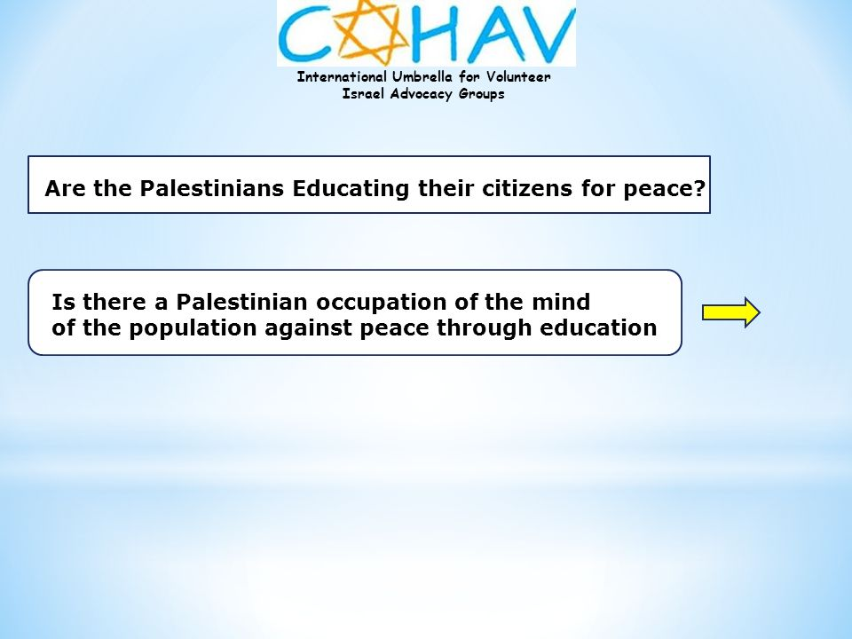 Are the Palestinians Educating their citizens for peace