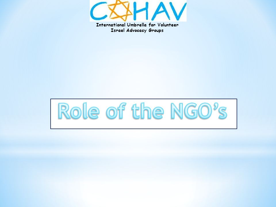 Role of the NGO's