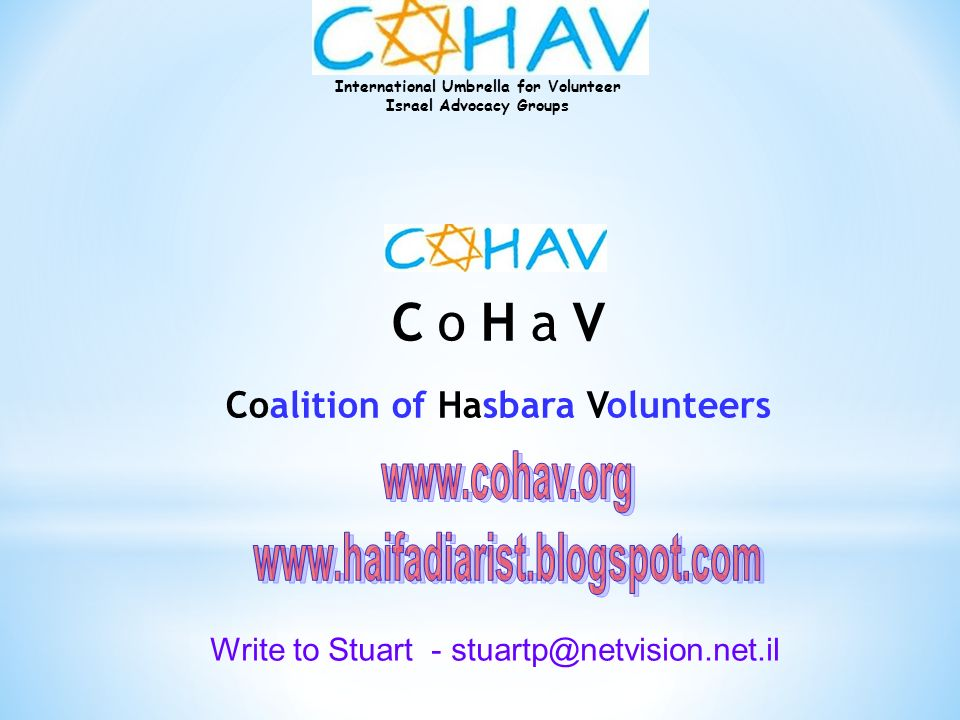 Coalition of Hasbara Volunteers