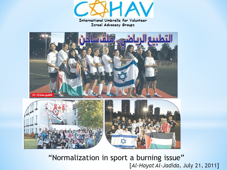Normalization in sport a burning issue