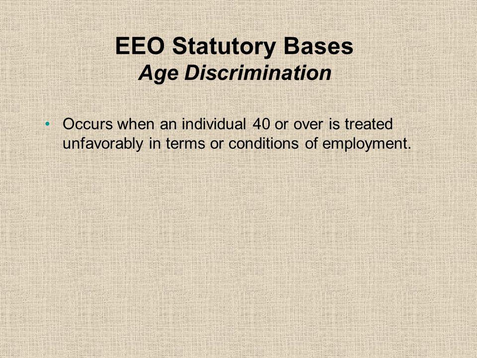 EEO Statutory Bases Age Discrimination