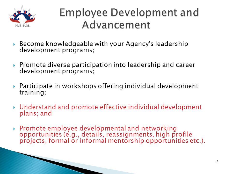 Employee Development and Advancement