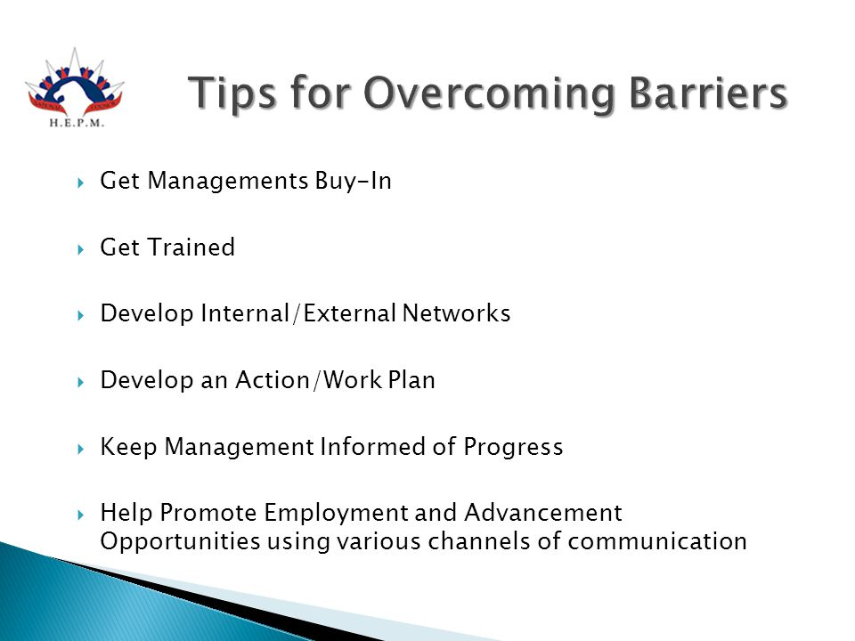 Tips for Overcoming Barriers