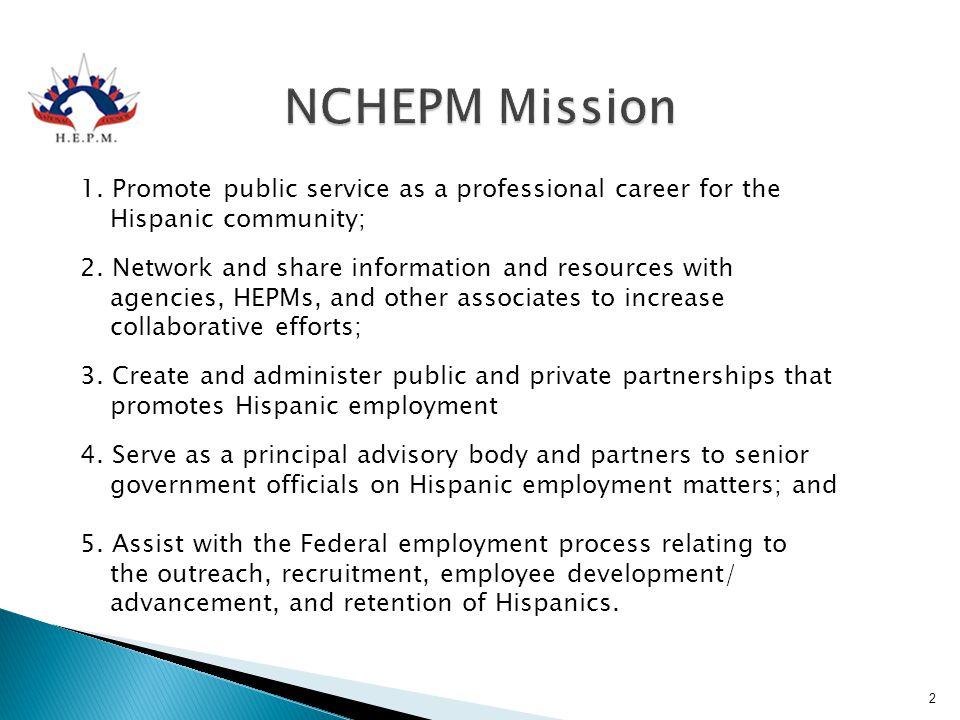 NCHEPM Mission