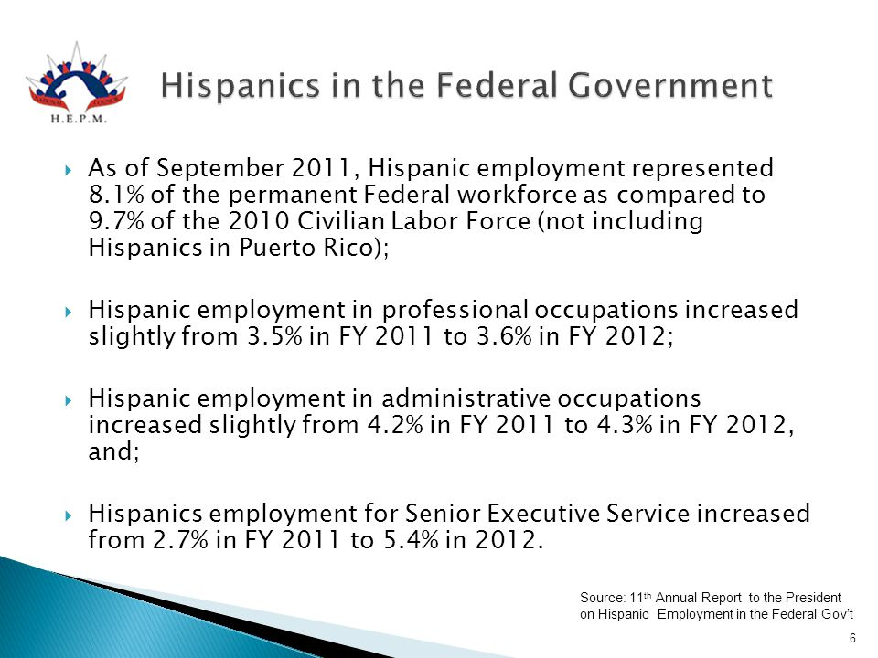 Hispanics in the Federal Government