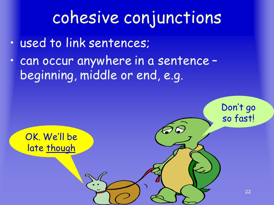 cohesive conjunctions