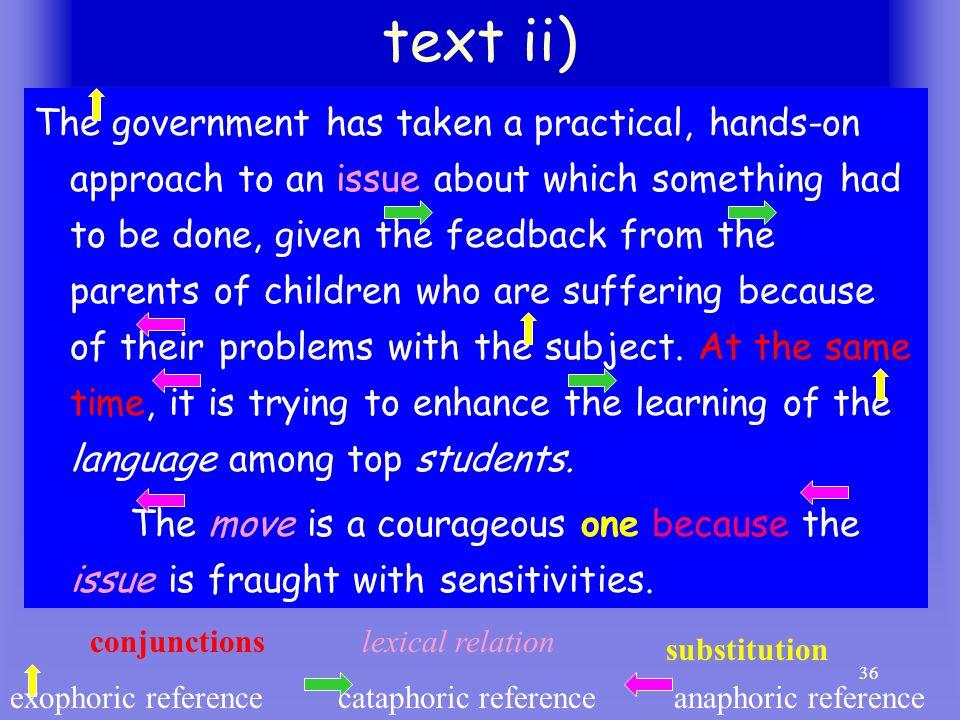 text ii)