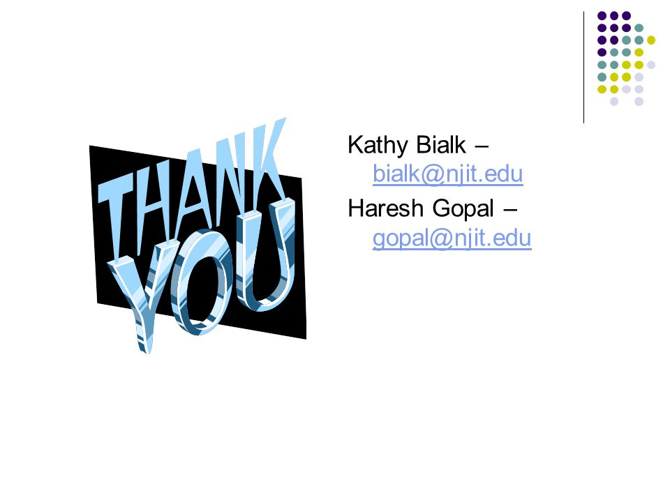 Kathy Bialk – bialk@njit.edu
