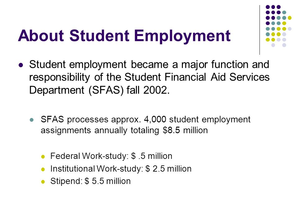 About Student Employment
