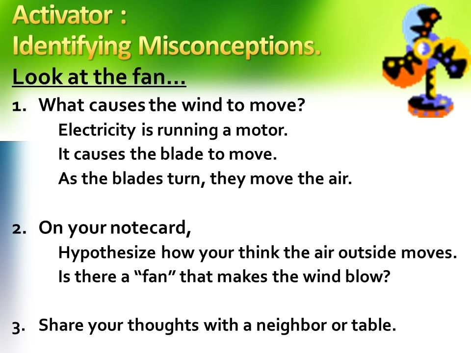 Activator : Identifying Misconceptions.